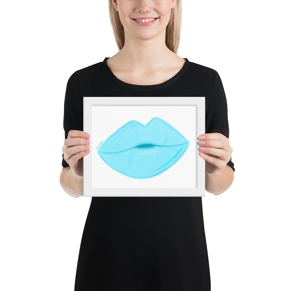 Clear Sky Lips Framed poster