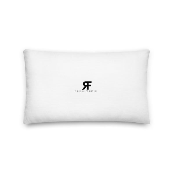 Timeless in Black Premium Pillow 20x12