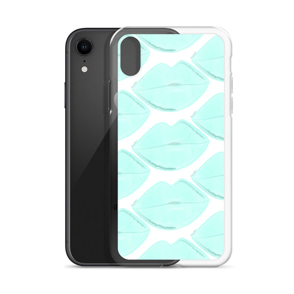 Clean Aqua Lips iPhone Case