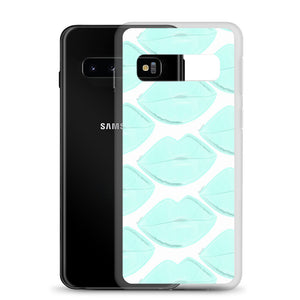 Clean Aqua Lips Samsung Case