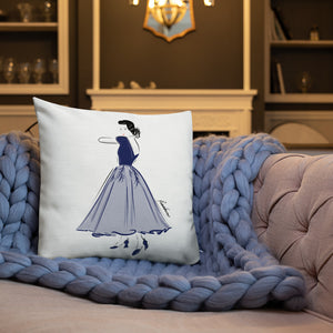 Blue Grace Premium Pillow 18x18