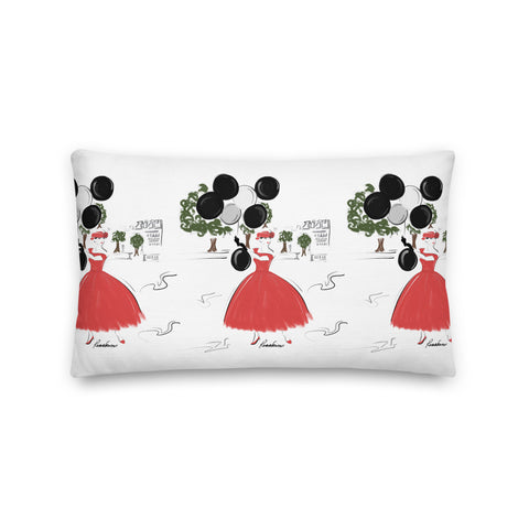 Balloons in the Park Premium Pillow 20x12