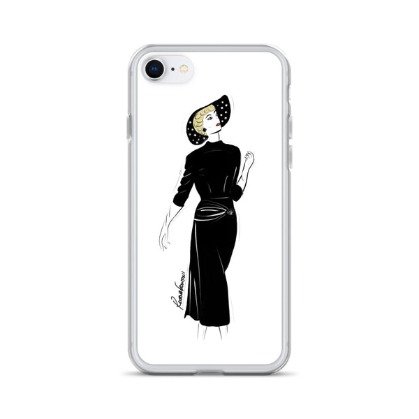 Timeless in Black iPhone Case