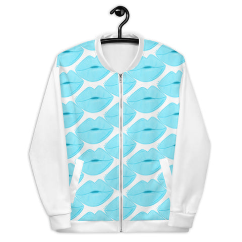 Clear Sky Lips Bomber Jacket