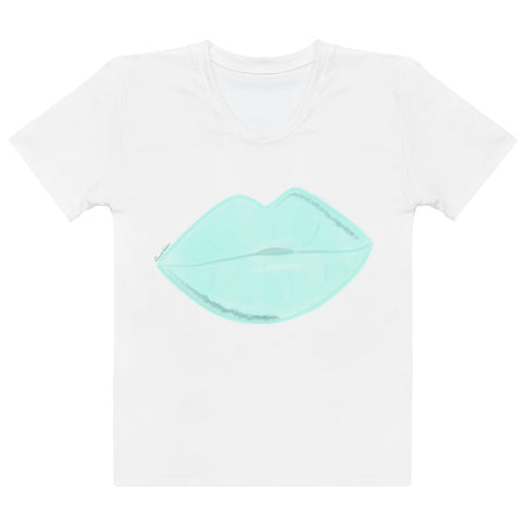 Clean Aqua Lips Women's T-shirt