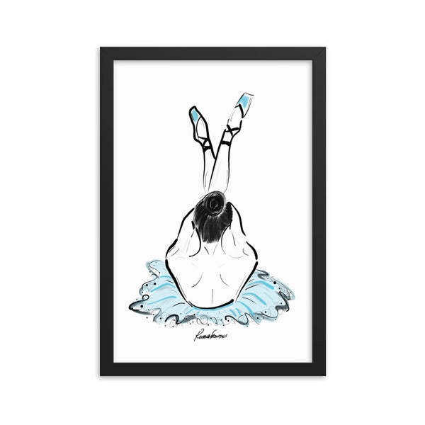Ballerina in Blue Framed poster