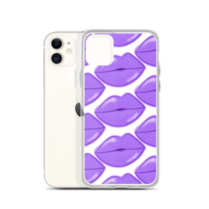 Purple Glow Lips iPhone Case