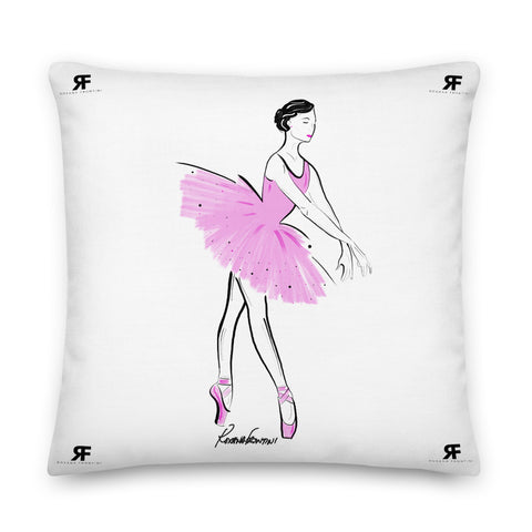 Ballerina in Pink Premium Pillow 22x22