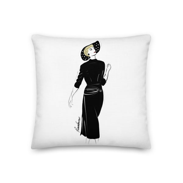 Timeless in Black Premium Pillow 18x18