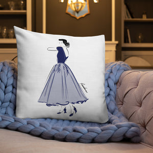 Blue Grace Premium Pillow 22x22