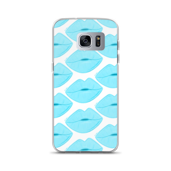 Clear Sky Lips Samsung Case