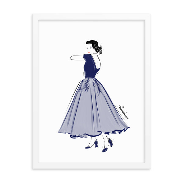 Blue Grace Framed Poster