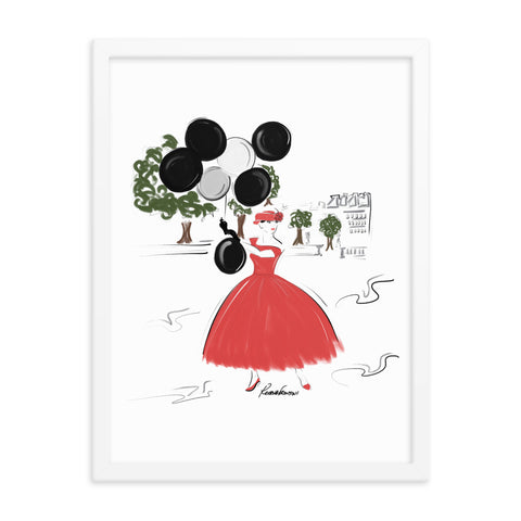 Balloons in the Park Framed Poster