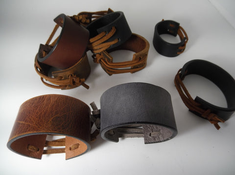 100% Solid Leather Wrist Cuff