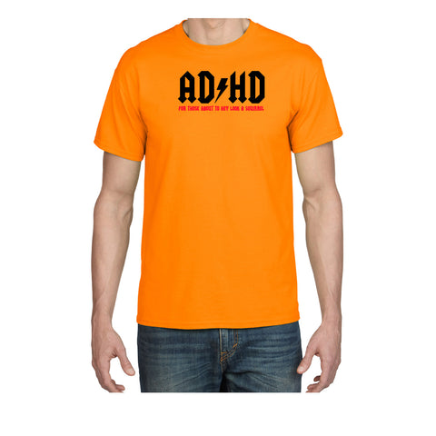 ADHD 100% Cotton Short Sleeve Adult Unisex T-Shirt