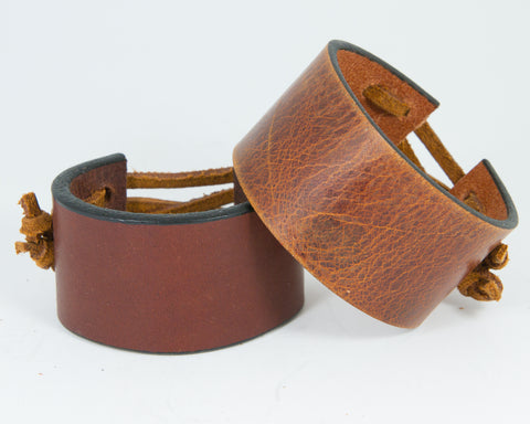 100% Solid Leather Wrist Cuff without Graphic