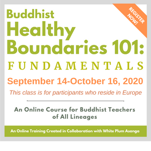 EUROPEAN Buddhist Healthy Boundaries 101 Online Course (Fall 2020)