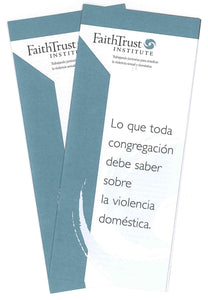 Domestic Violence Awareness Brochure: What Every Congregation Needs to Know About Domestic Violence