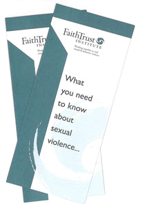 Sexual Violence Awareness Brochure