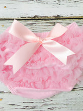 Load image into Gallery viewer, Light Pink Short Sheer Ruffled Baby Bloomer