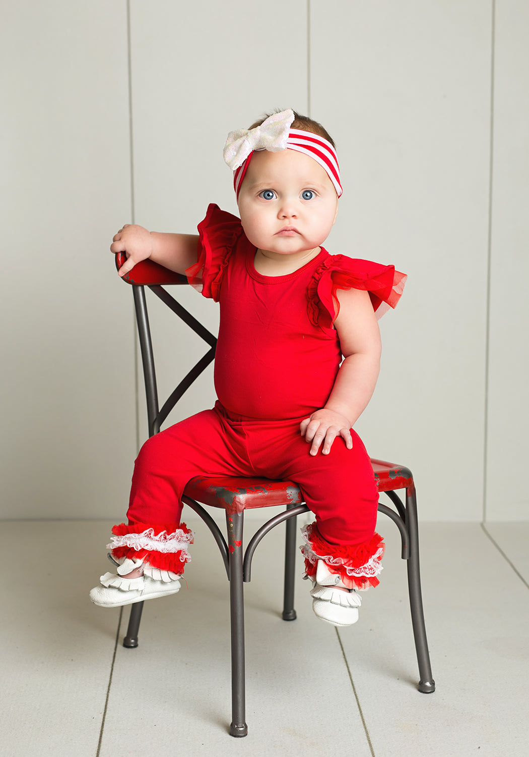 Toddler Holiday Outfit Butterfly Sleeve Leo & Ruffle Pants