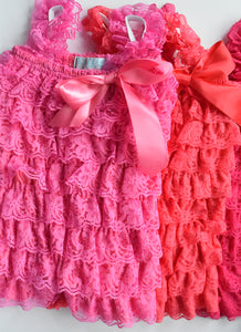 Raspberry, Dark Coral and Hot Pink Rompers