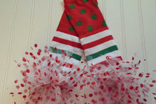 Load image into Gallery viewer, Green and Red Stripe and Dot Christmas Leg Warmers, Baby, Toddler & Kids