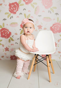 Vintage Look Baby Girl Bloomer & Leg Warmer Set