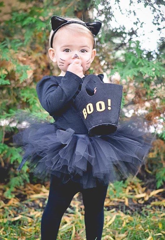 Costume Baby Toddler Black Tutu perfect Halloween Costume Tutu for Baby or Toddler. High Quality Sewn Tutu Ribbon Tie Back Free shipping