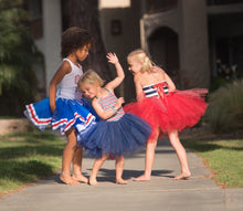Load image into Gallery viewer, Baby Toddler red white ans blue ribbon edge Tutu perfect cake smash Tutu for Baby or Toddler