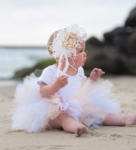 Load image into Gallery viewer, Baby Toddler White and Cream Tutu perfect cake smash Tutu for Baby or Toddler