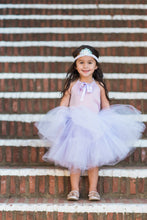 Load image into Gallery viewer, Sofia the First inspired tutu costume dress! Gorgeous lavender top and tulle dress skirt! Baby toddler costumes!