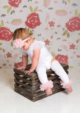 Load image into Gallery viewer, Photo Set Baby Girl Leo, Skirt & Custom Ruffled Leg Warmer Set