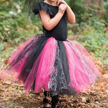 Load image into Gallery viewer, Baby Toddler Witch Spiderweb Tutu perfect Halloween Costume Tutu for Baby or Toddler. High Quality Sewn Tutu