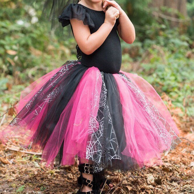 Baby Toddler Witch Spiderweb Tutu perfect Halloween Costume Tutu for Baby or Toddler. High Quality Sewn Tutu