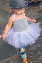 Load image into Gallery viewer, Ticking Hip Ballerina Dress in blue and White!  Baby toddler costumes!