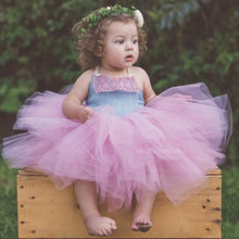 Load image into Gallery viewer, Mauve and Denim dress. Baby toddler costumes!