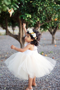 White Sequin and Ivory Princess Tutu Dress.  Baby and Toddler Sizes offered.
