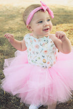 Load image into Gallery viewer, Little Pink Country Girl Tutu Dress - Western Baby Girl, Antlers & Flowers, Farm Girl Tutu Dress. Rustic Tutu Dress