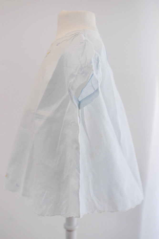 Antique Vintage Light Blue Baby Dress