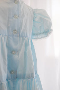Antique Vintage Aqua Blue Baby Dress with Ruffles