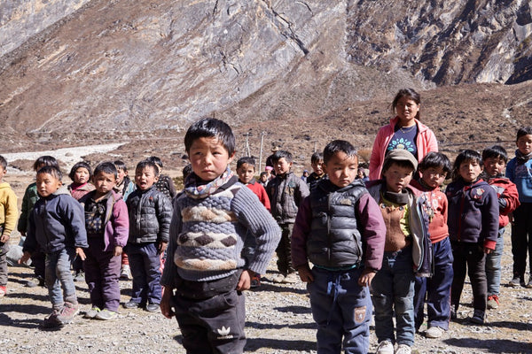 Nepalese children from rural areas