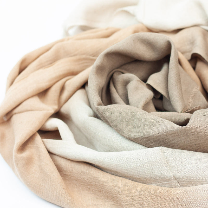 Natural dyed, eco dyed, soft hemp & bamboo scarf, ethically made - Hempalaya