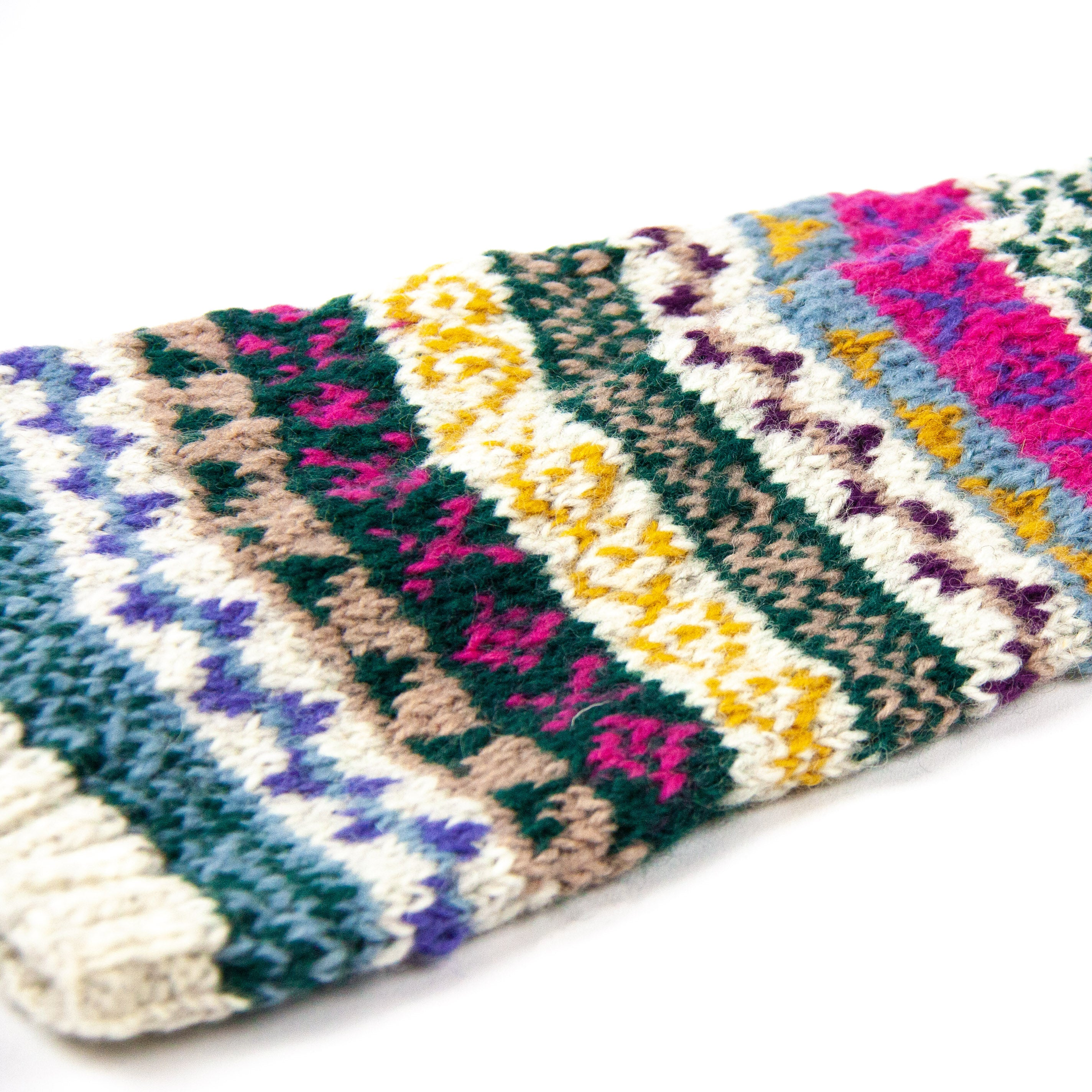 Hand knitted, woolen leg warmers, ethically made
