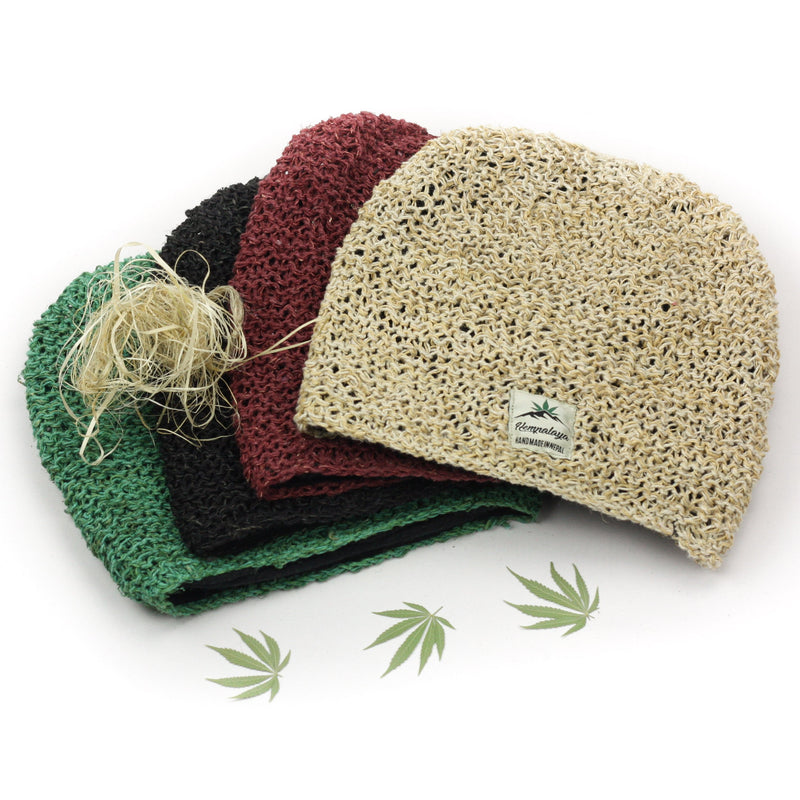 Hemp beanie, winter hat, crochet, fleece lined, unisex - Hempalaya