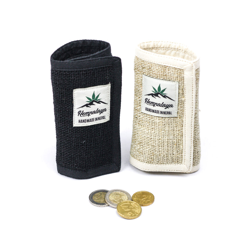 Hemp trifold wallet small
