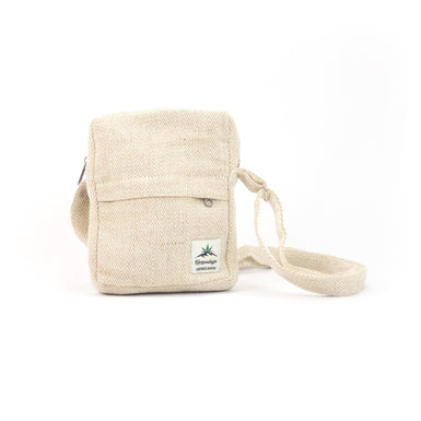 Hemp Shoulder bag, Crossbody bag, small, natural - Bag - Hempalaya
