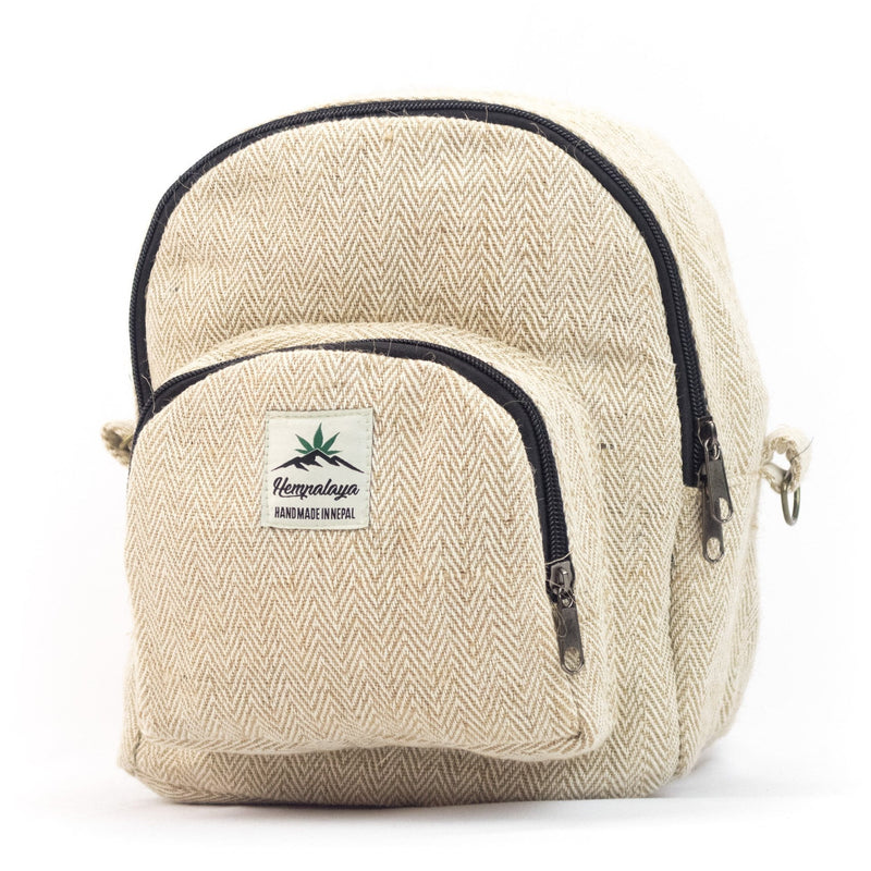 Hemp 2 in 1 mini backpack, natural - Hempalaya