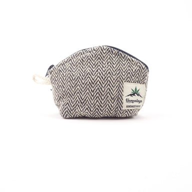 Hemp coin purse, change purse, black - Hempalaya