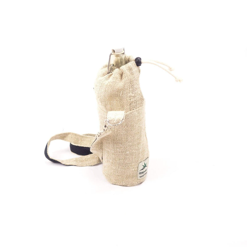 Hemp water bottle bag, bottle holder - Hempalaya